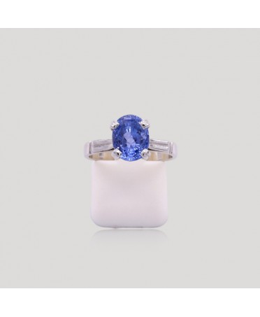 Bague tanzanite ovale